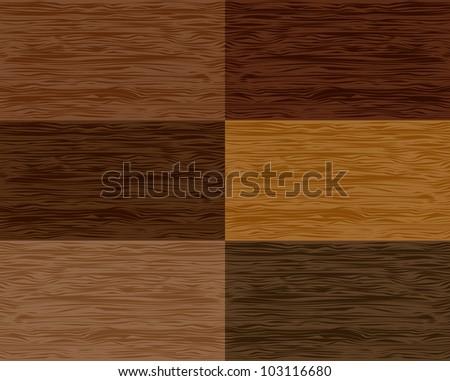 set wood seamless patterns