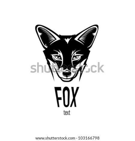 fox head  engraving style
