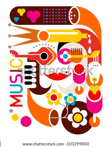 music   abstract vector