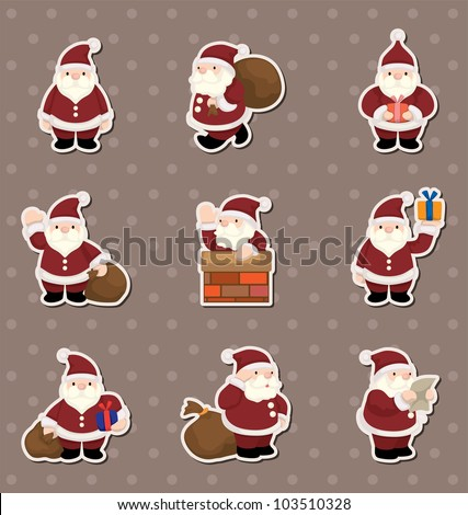 cartoon santa claus christmas