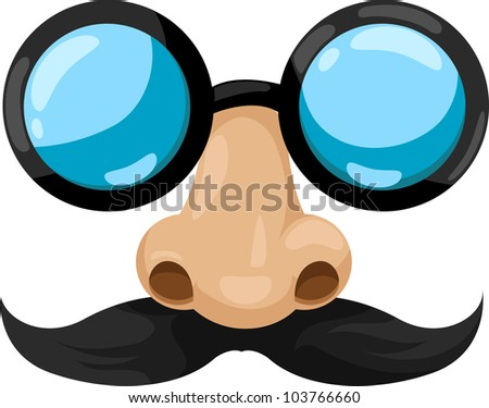 illustration clown glasses