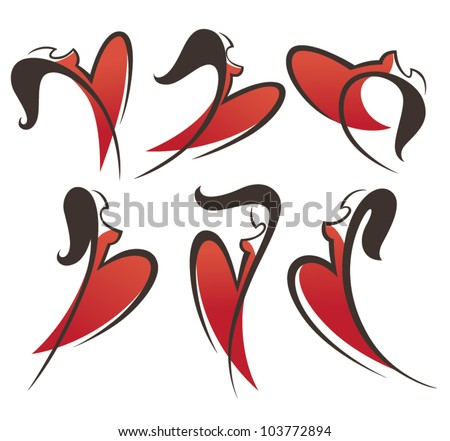 tango  girls and dresses vector