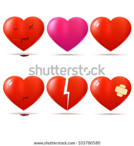 collection of glossy hearts
