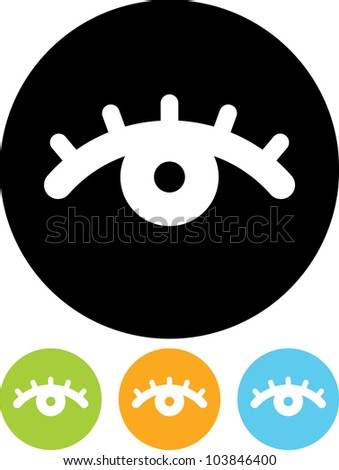 female eye   vector icon