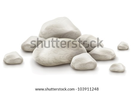 pile of stone isolated on white