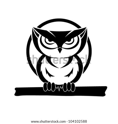 vector black white owl free vector download (10,954 free vector