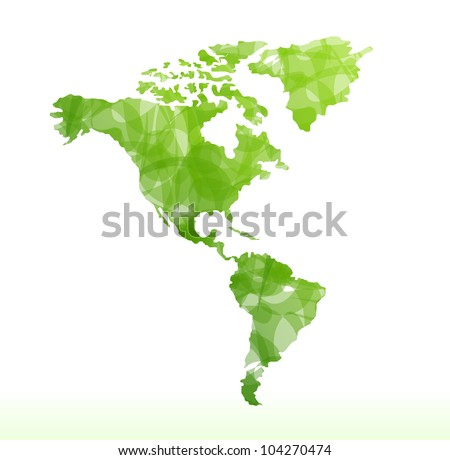 vector world map isolated