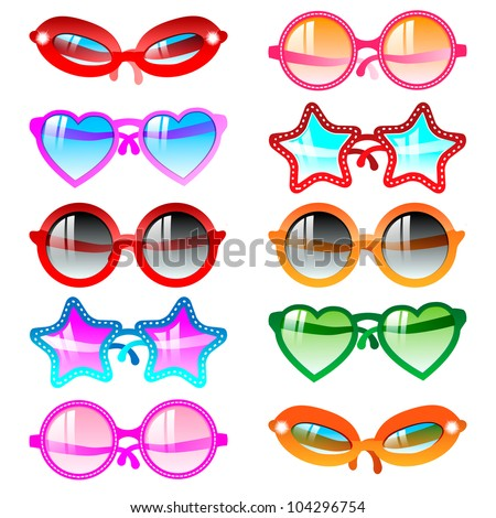 vector illustration sunglasses