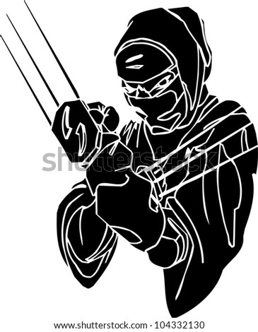 ninja fighter   vector eps