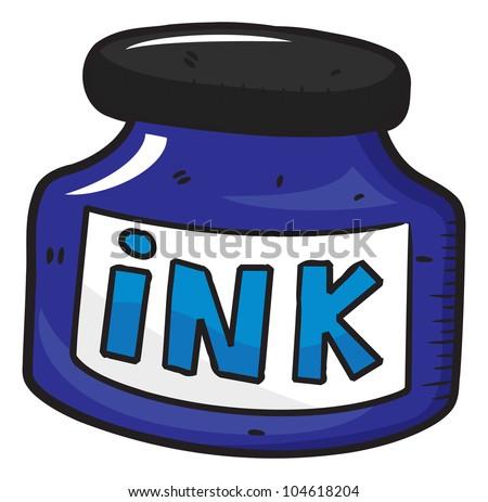 Ink Bottle clip art Free Vector / 4Vector