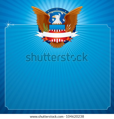 vector background with american