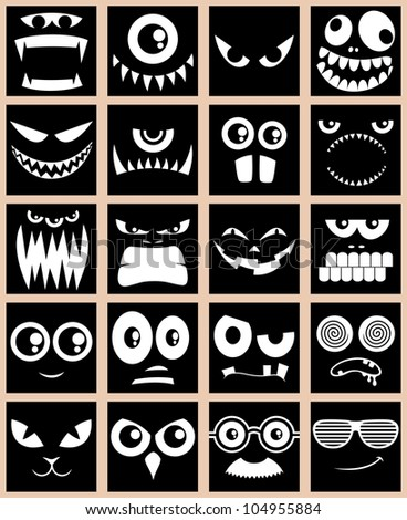 avatars in black  set of 20