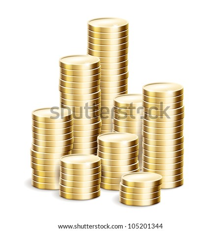 cents on a white background