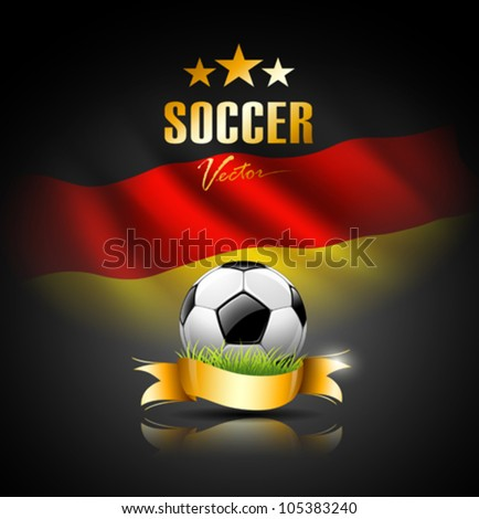 soccer ball with flag of