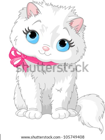 illustration of fluffy white