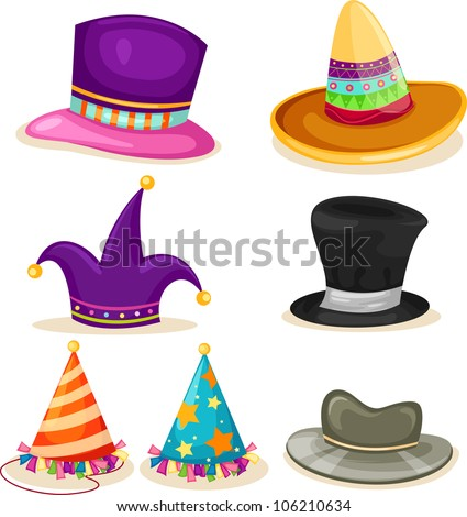 collection hat vector file