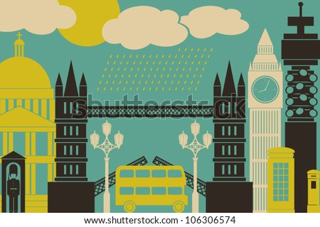 illustration of london symbols