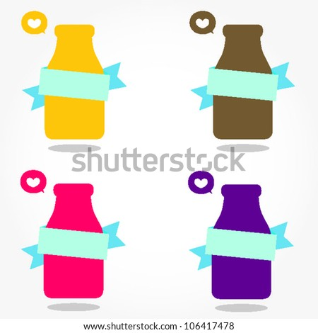 cute milk bottle card