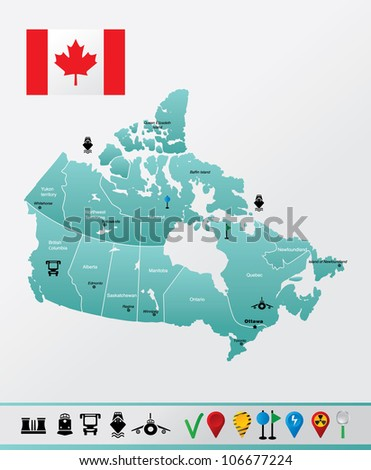 canada map high detailed map of