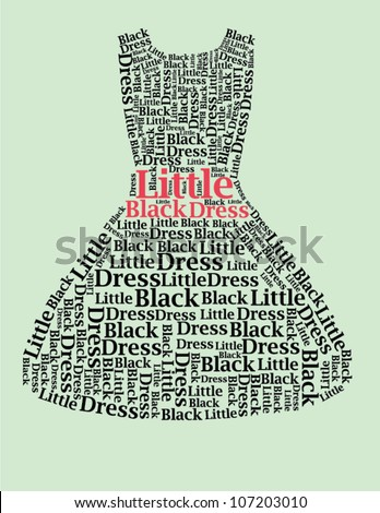 typography dress design with