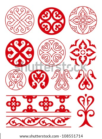 stock-vector-floral-ornaments-of-ancient-russ-vector-tracery