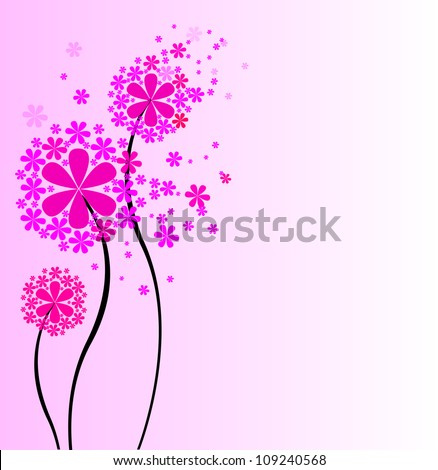 cute bouquet of flowers vector