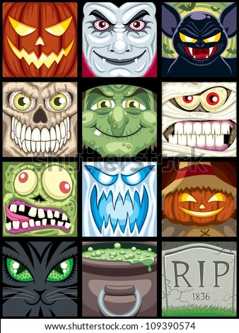 halloween avatars  set of 12