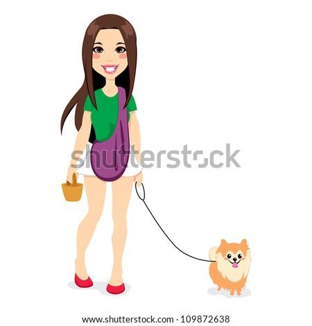 beautiful young girl walking