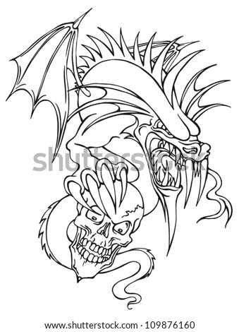 vector illustration outline