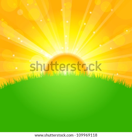 vector illustration sunrise