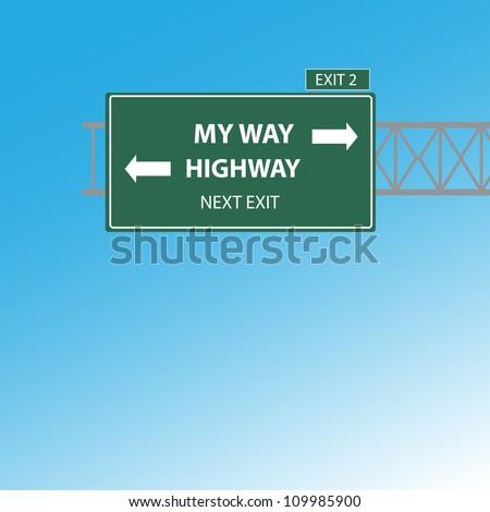 my way or highway exit vector
