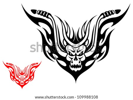 tribal biker motorcycle tattoo