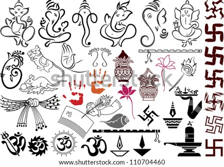 ganesha with wedding symbols