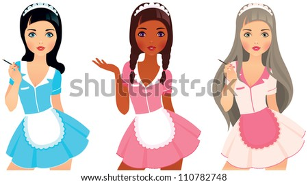 sexy girls in costumes maids