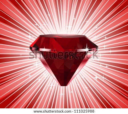 red diamond vector shine