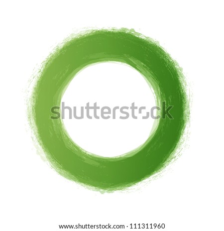 vector hand painted green circle