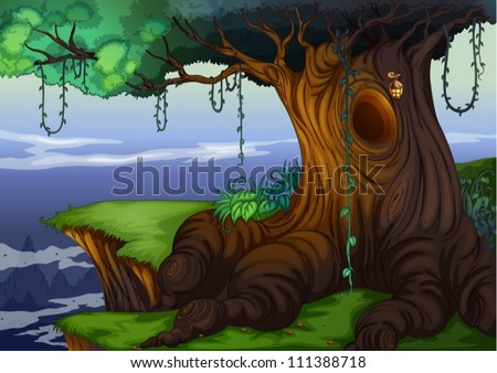 illustration of a detailed tree