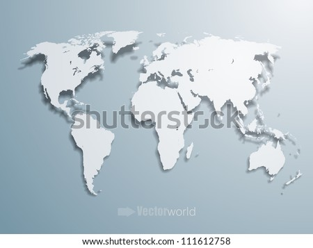 3d vector world illustration