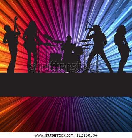 rock band vector background
