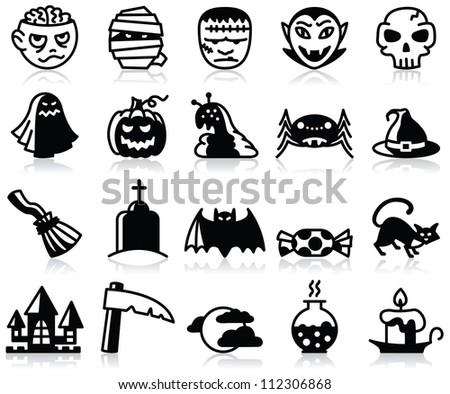 minimalistic halloween icons