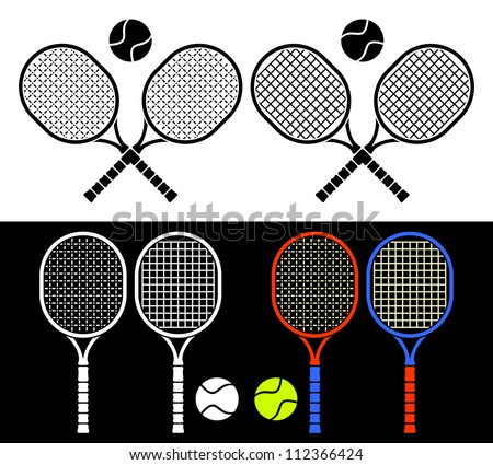 the crossed tennis rackets and