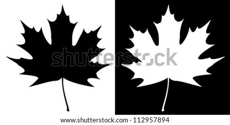 double maple leaf silhouette on