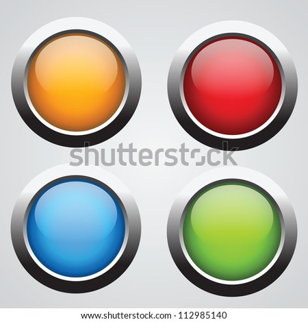 nice set of round buttons with