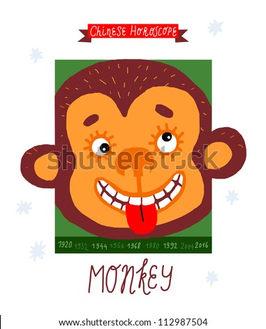 monkey horoscope vector