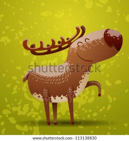 funny deer  vector 01