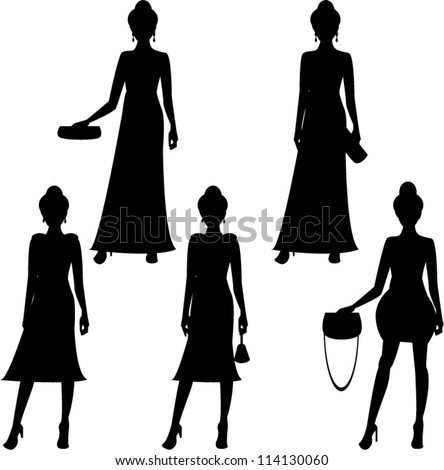 glamour black silhouette of