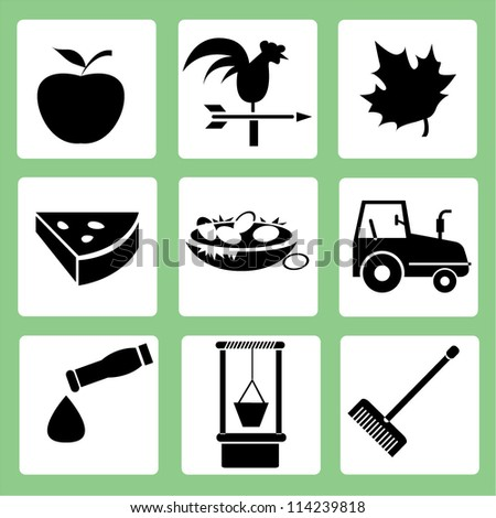 farm icon set  agriculture