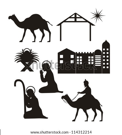 silhouette christmas  nativity