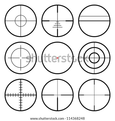 vector crosshairs set each
