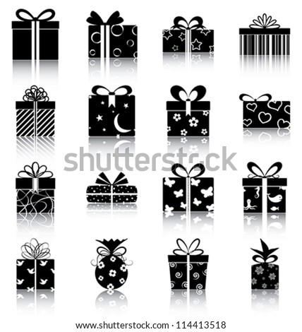 gift boxes   16 icons